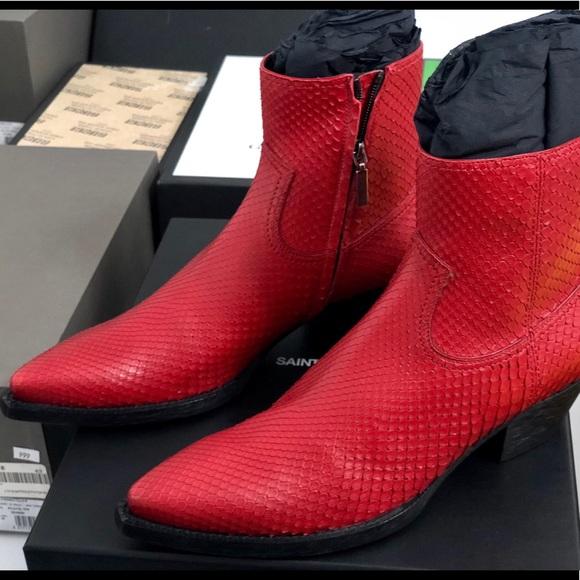 Saint Laurent Python Lukas 4 Boots